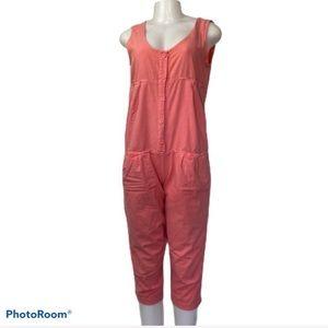 Vintage C'est Olivia Coral Cotton Jumpsuit S